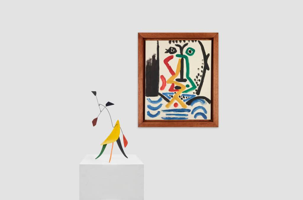 Calder sculpture and Picasso painting