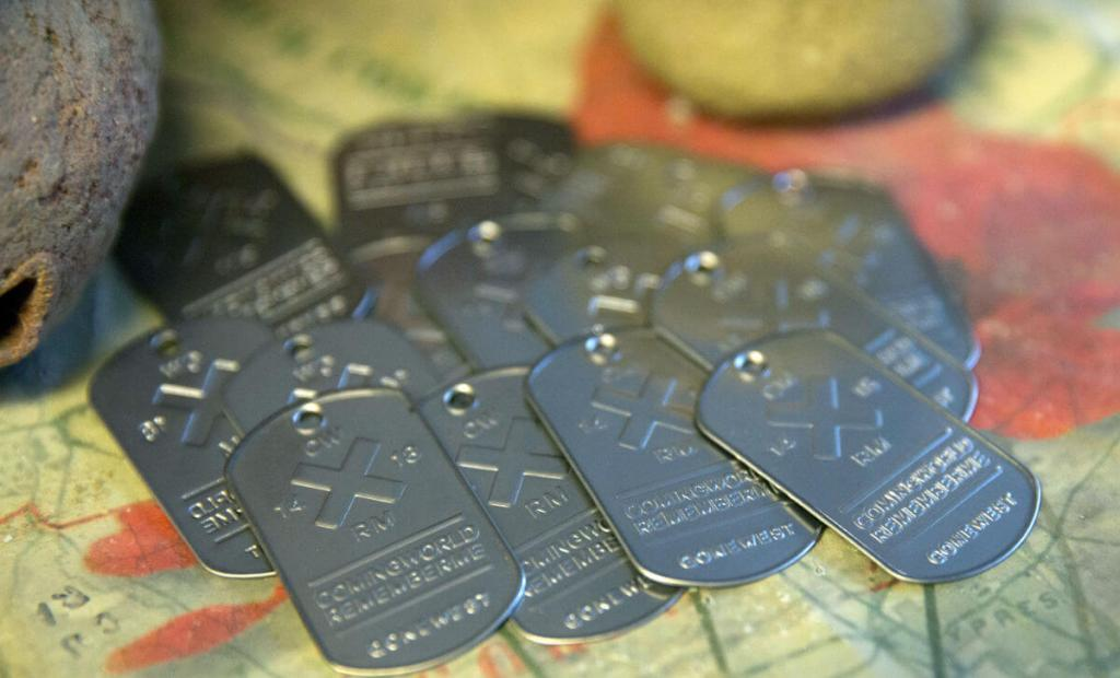 dog tags for wwi clay figures