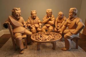 Warren King paper sculpture group