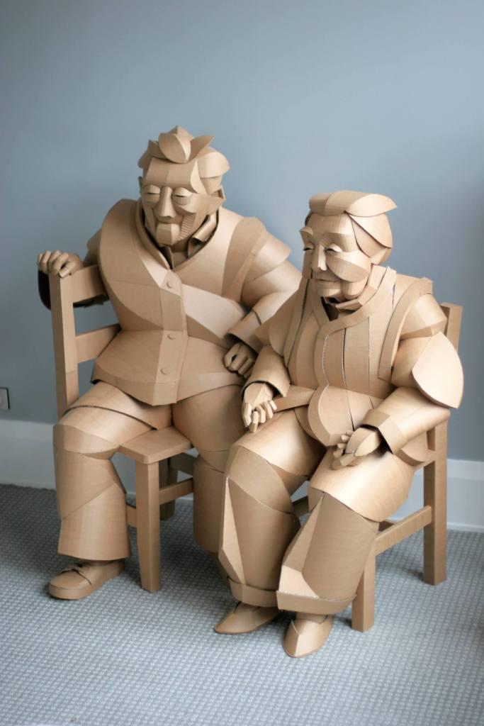 Warren King paper sculpture