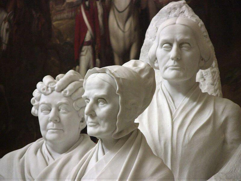 Adelaide Johnson suffragette portrait sculpture