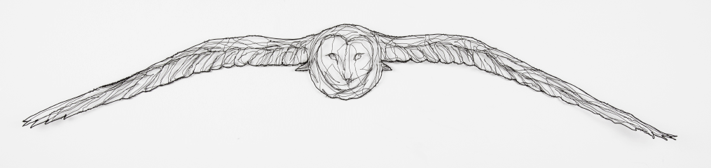 wire sculpture of owl by RosemaryCraft