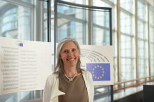 Milena Simeoni al parlamento Europeo Bruxelles