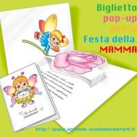 Biglietto pop-up per la Festa della mamma: farfallina con rosa