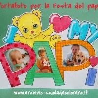 Lavoretto per la Festa del papà - portafoto I love my papi