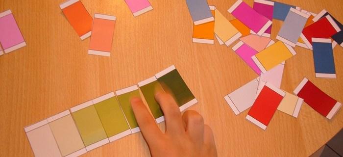 Schede Montessori dei colori da scaricare