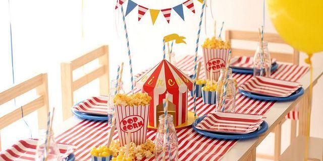 Festa a tema circo per una serata in famiglia