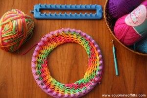 Telai per bambini: creare con lana ed elastici