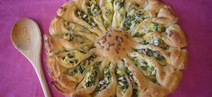 Torta salata Girasole – Ricetta per bambini