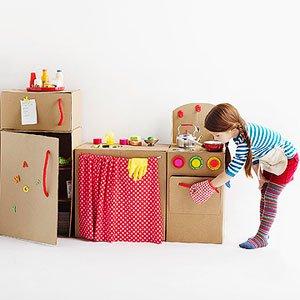 cucina giocattolo scatoloni cartone