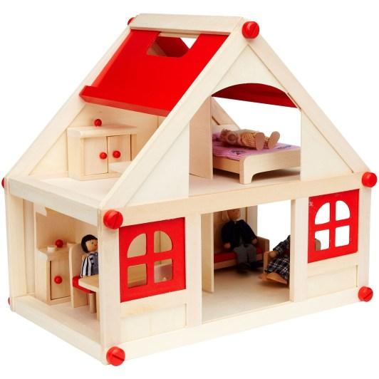 casetta in legno per le bambole