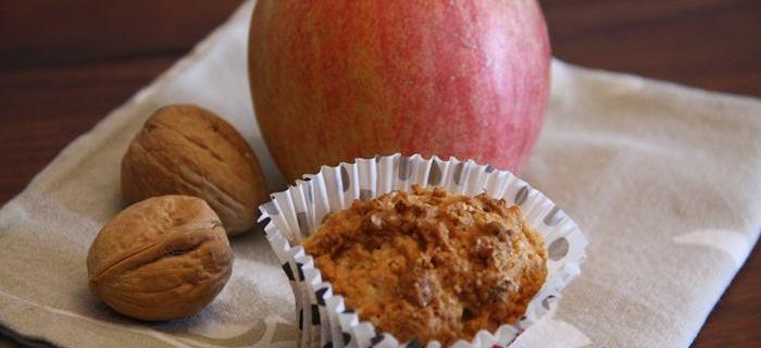 Muffin alle mele senza uova e burro
