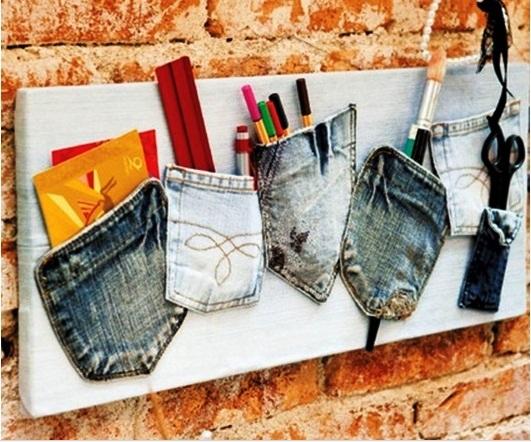 idee per riciclare jeans rotti