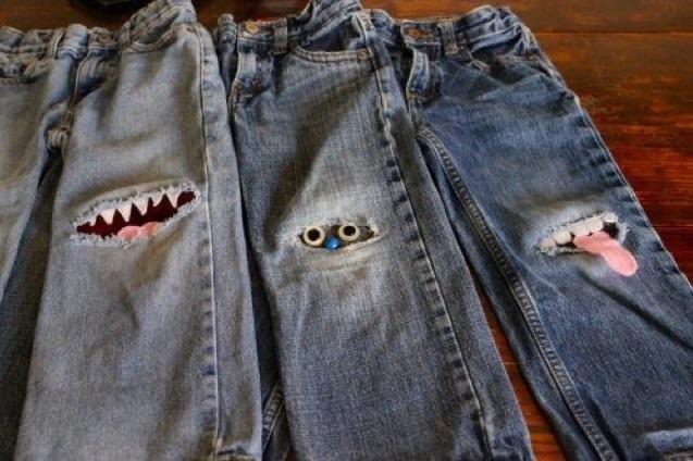 come riciclare jeans rotti