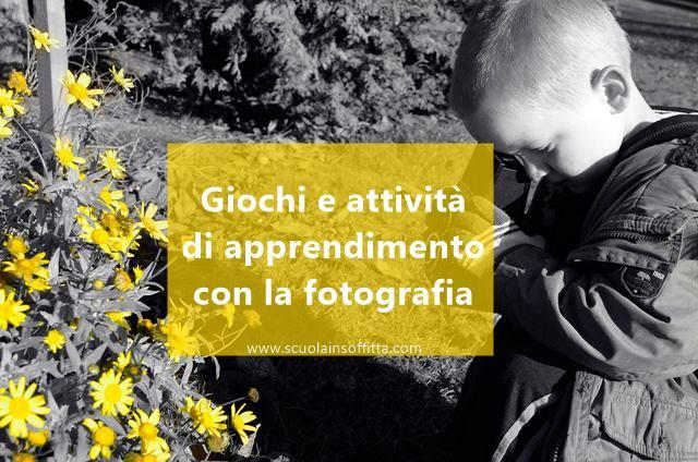 attività per bambini con la macchina fotografica