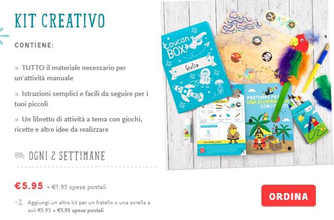 toucanbox kit creativi
