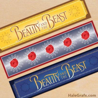 etichette la bella e la bestia