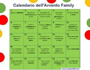 Calendario dell'Avvento Family (da stampare)