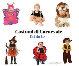 Costumi di Carnevale fai-da-te (idee facili)