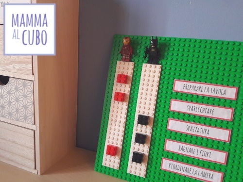 Organizzare creativamente con i Lego
