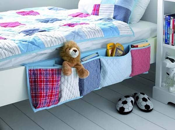 porta oggetti per il letto