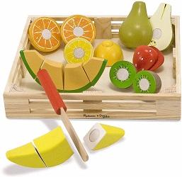 Frutta in legno da tagliare