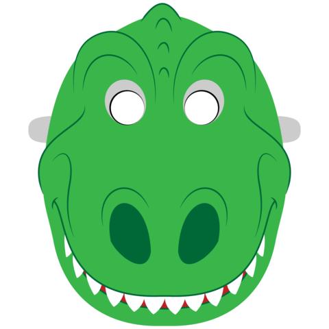 maschera da dinosauro