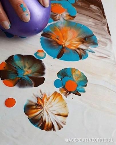 Giocare con i colori a tempera