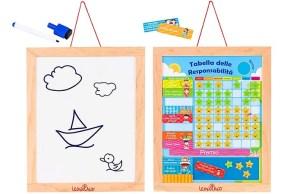 Lavagna tabella responsabilità bambini