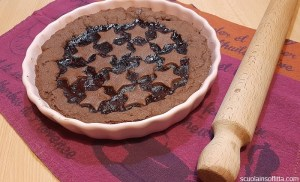 Crostata con frolla al cacao