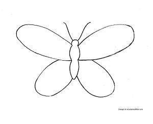 Disegno di una farfalla da colorare