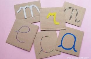 lettere smerigliate Montessori fai da te