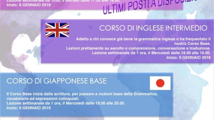 I Corsi di Lingue di Punto a Capo Onlus: tu a quale ti iscrivi?