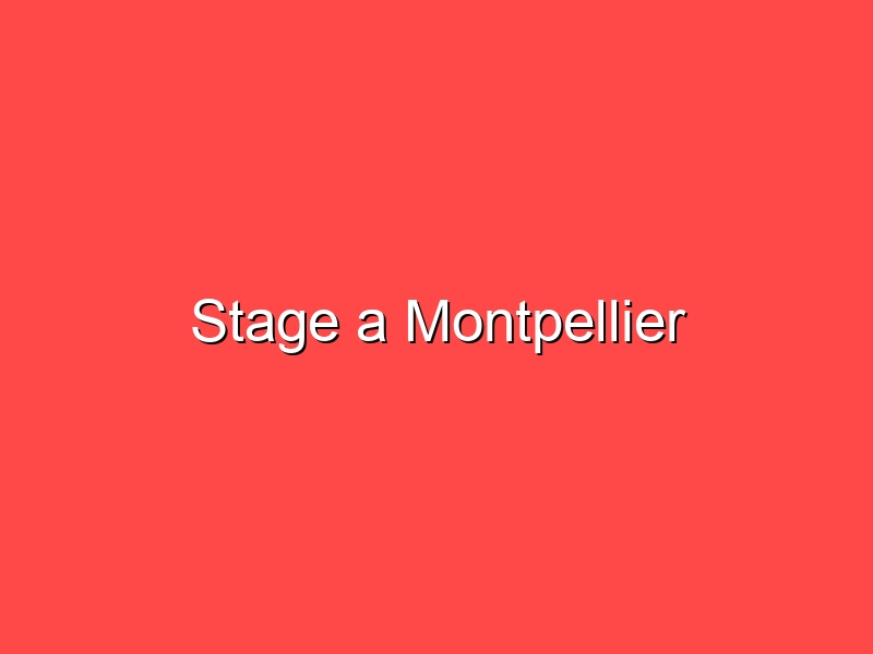 Stage a Montpellier