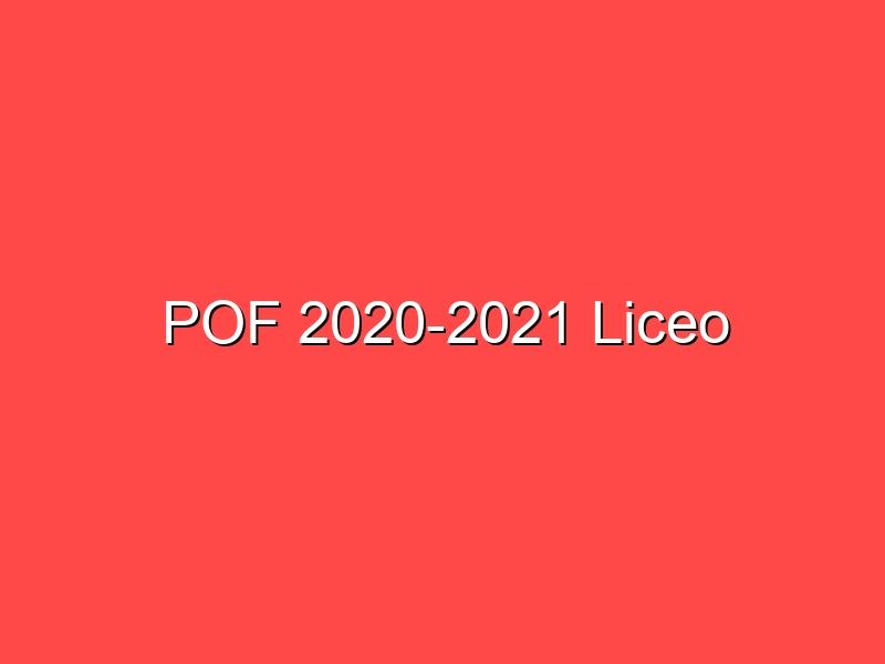POF 2020-2021 Liceo
