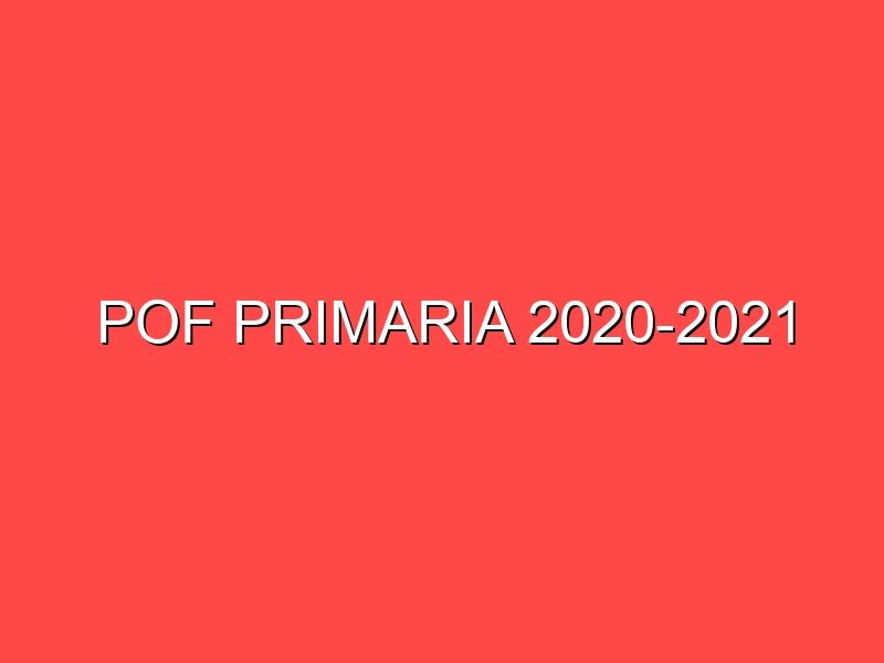 POF PRIMARIA 2020-2021