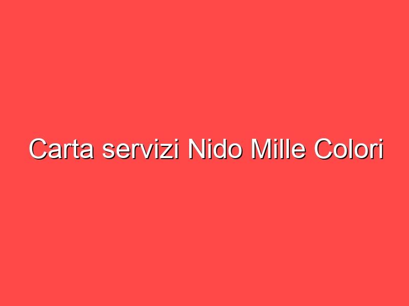 Carta servizi Nido Mille Colori