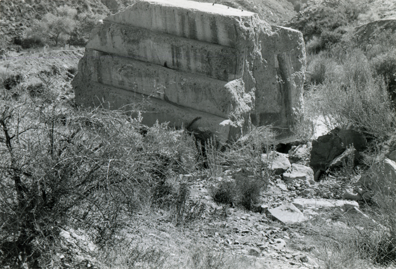 Concrete Dam Rubble  SAN FRANCISQUITO CANYON