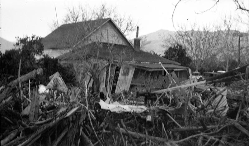 Wrecked Farmhouse  FILLMORE OR SANTA PAULA, CALIF.
