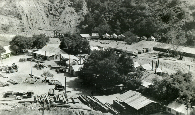 Powerhouse 2 Under Construction. SAN FRANCISQUITO CANYON. Photos of the St. Francis Dam disaster.
