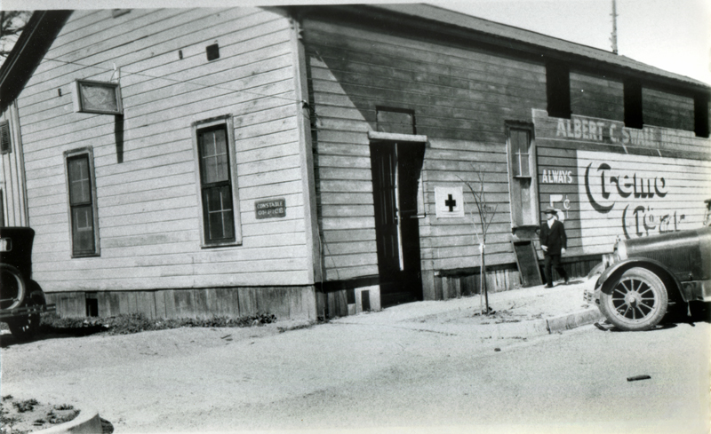 Hap-A-Lan Hall as Morgue for St. Francis Dam Victims  NEWHALL, CALIFORNIA