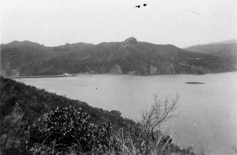 Reservoir, Late February 1928. ST. FRANCIS DAM. Photos of the St. Francis Dam disaster.