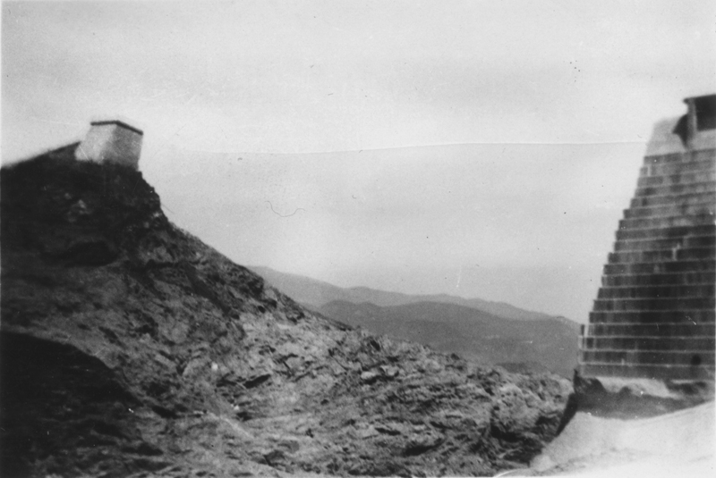 Western Abutment After the Break  ST. FRANCIS DAM