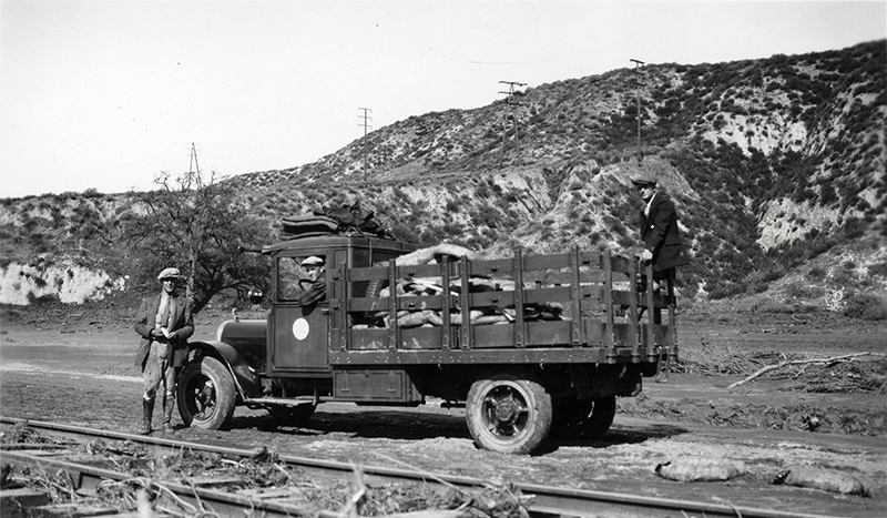 Telephone Company Crew  3 MILES WEST OF CASTAIC JUNCTION
