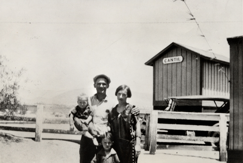 Tony Harnischfeger and family. He was the first victim of the St. Francis Dam disaster