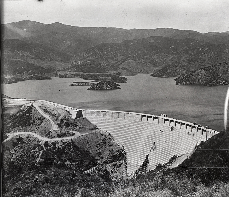 St. Francis Dam Intact. SAN FRANCISQUITO CANYON. Photos of the St. Francis Dam disaster.