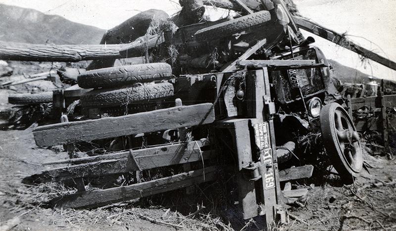 Wreckage at Kemp Station/Blue Cut ST. FRANCIS DAM DISASTER