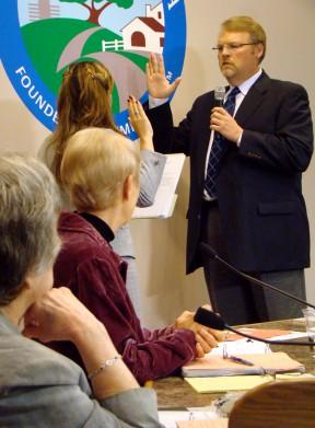 Swearing-in as mayor, April 2012