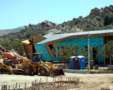 Vasquez Interpretive Center as seen under construction in May.