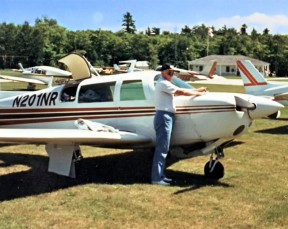 File photo: Harry Bell with one of his previous airplanes. That's Harry, but this isn't the TL-Ultralight Sting Sport that crashed.